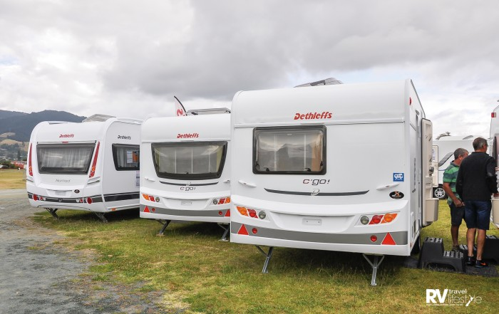The Dethleffs caravans are well priced: the C'Go 430 is $$49,900 and the 515 is $53,900