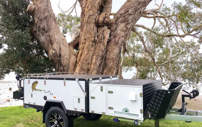 Packed down, the trailer is compact and aerodynamic
