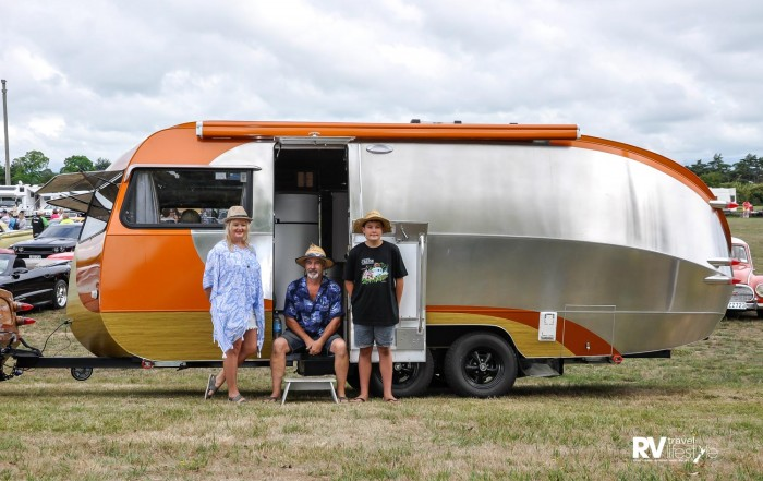 The Wallace family, enjoying their first Cruise Martinborough event in January
