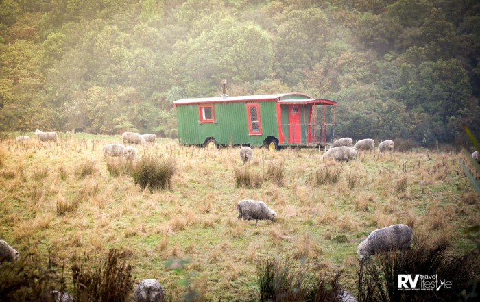 Tiny homes are not new, this one sits in a paddock in the Catlins and when this photo was taken someone was still living in it