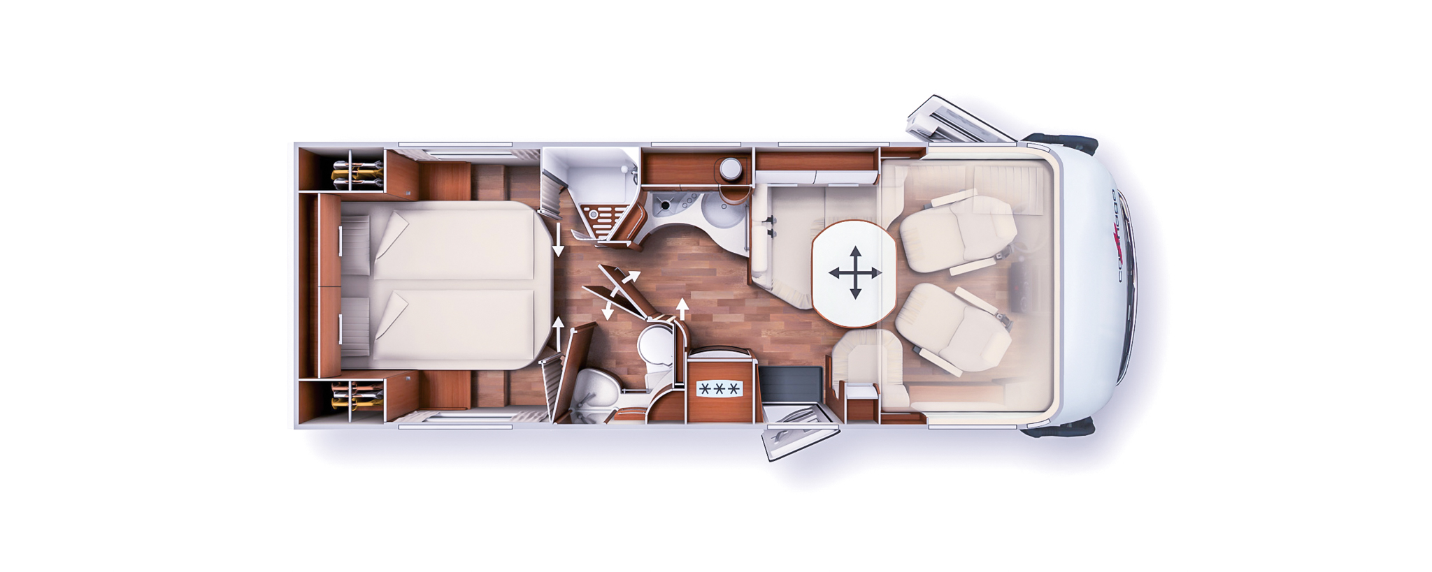 The floor plan for the Carthago chic c-line I 5