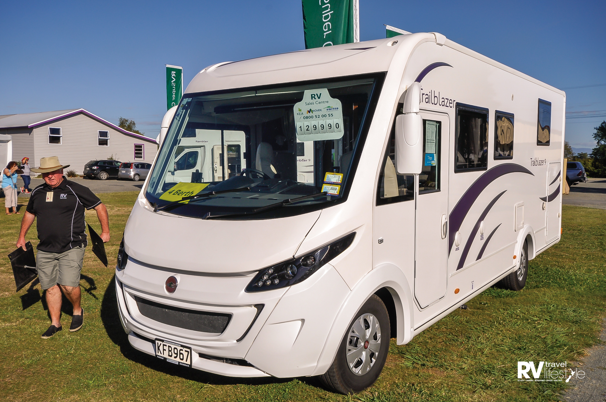 Steve Lane from the RV Supercentre in Auckland came down to work the weekend – this is a new model A-class motorhome from them, the Trailblazer