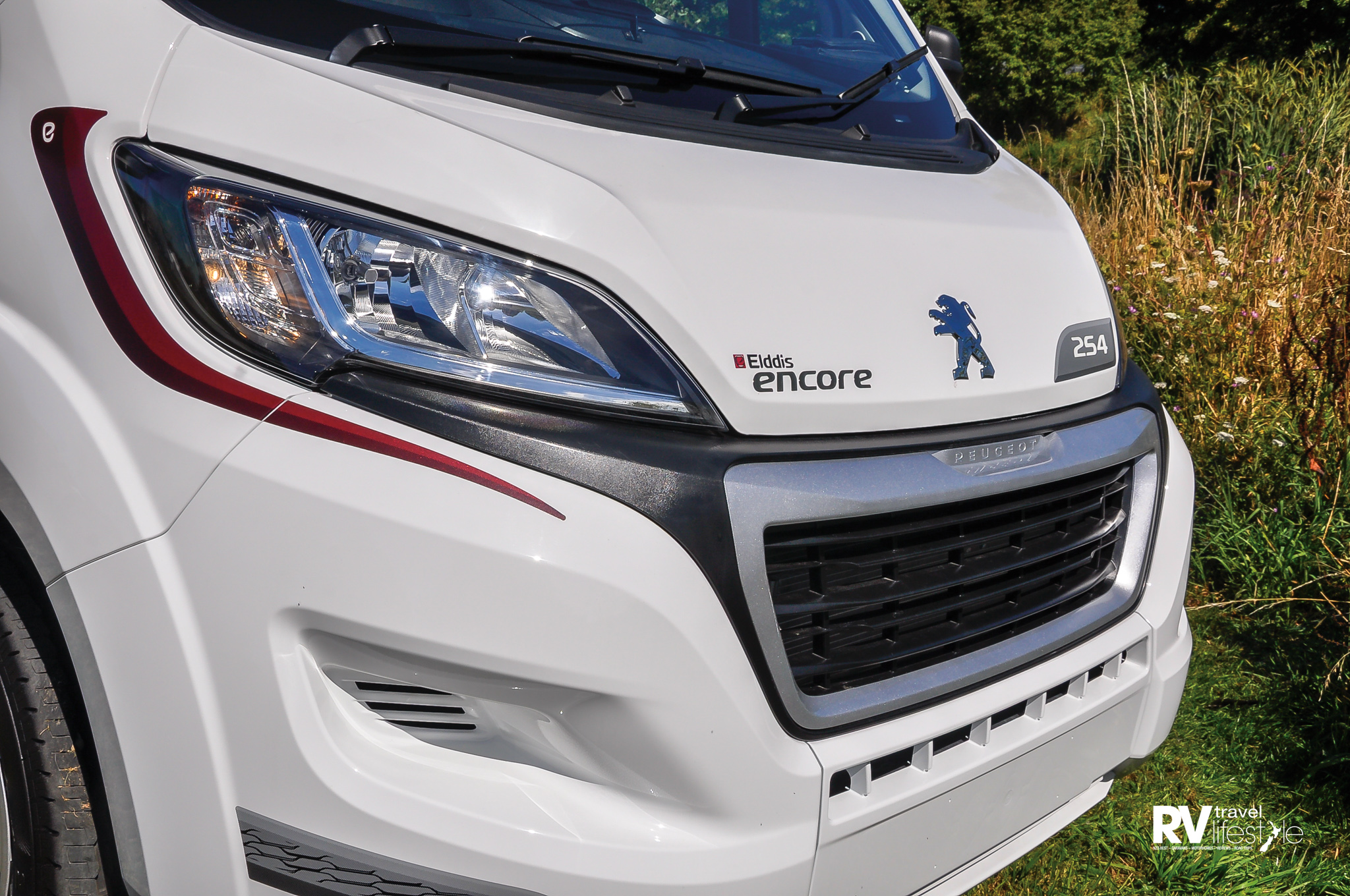 Peugeot cab chassis is the basis for all the Elddis motorhomes; this is the Encore 254 model we viewed