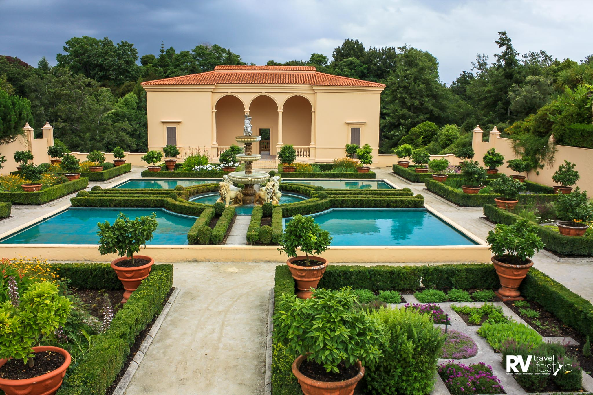 Elegance and charm denote the manicured Italian Garden