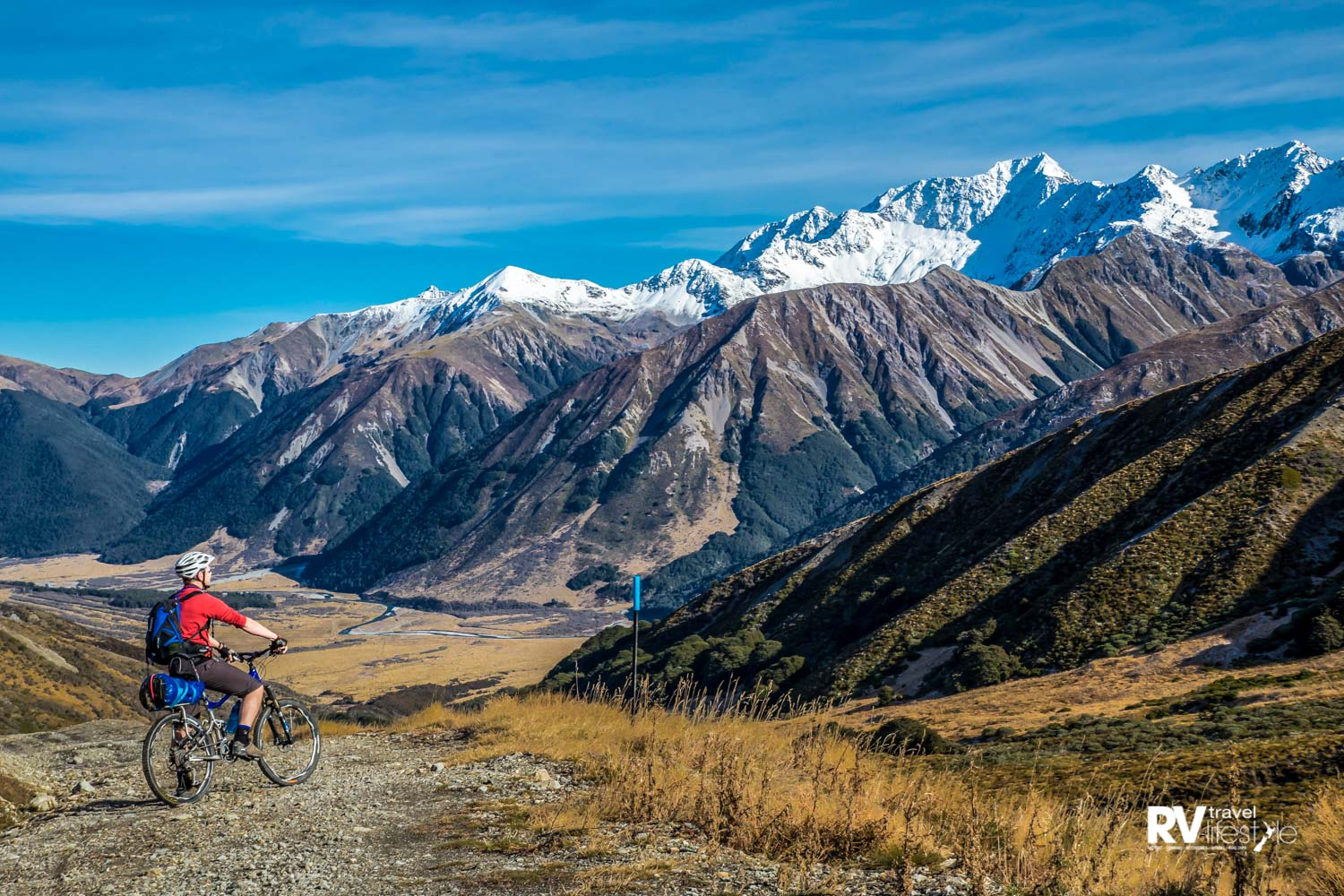 The scenery on the St James Cycle Trail is spectacular. Photo: Hurunui Tourism