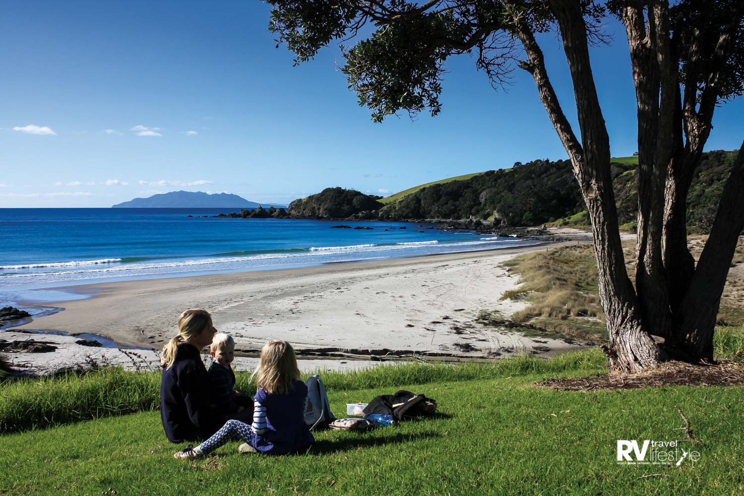 Picnic spots can easily be found on the picturesque peninsula