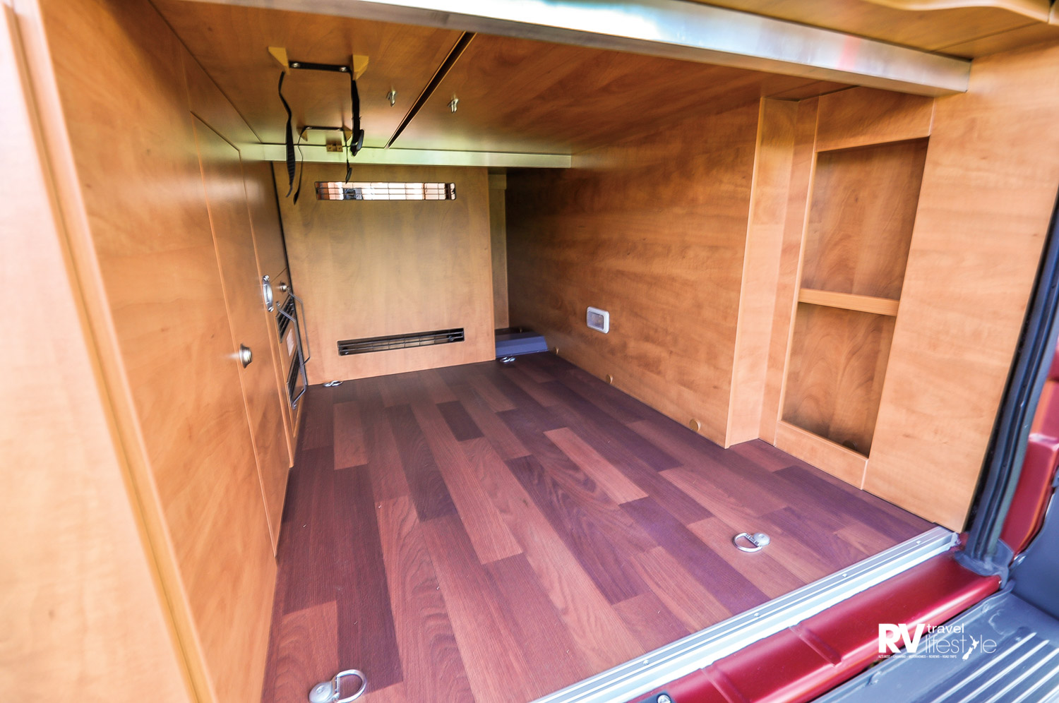 Storage under the bed is impressive and easily accessible through the rear doors