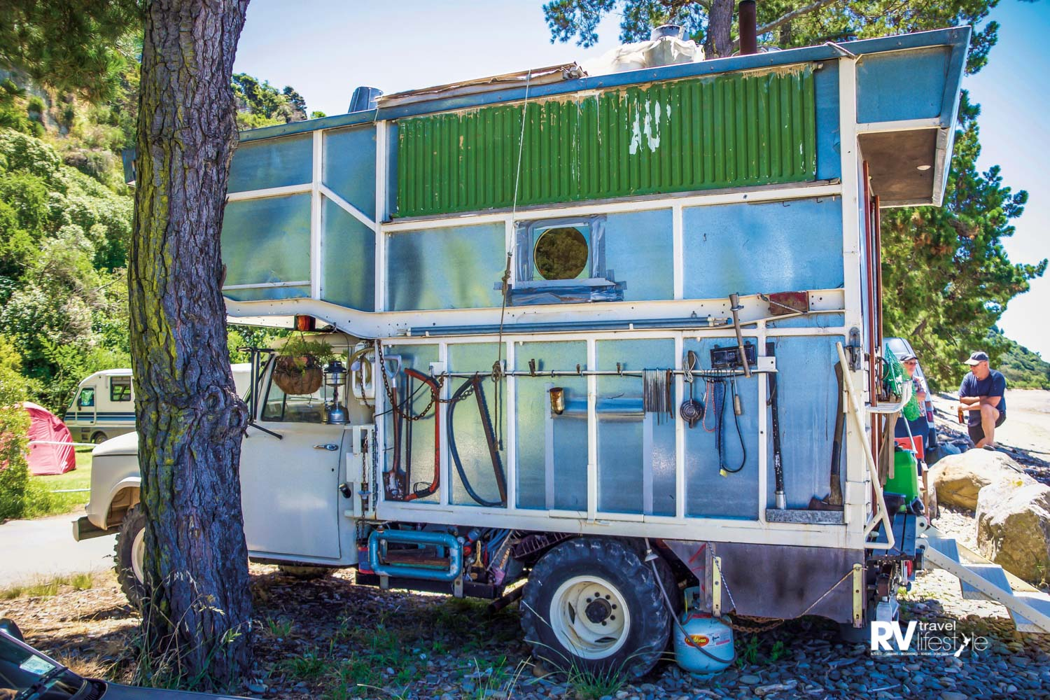This unique home on wheels not only attracts people's attention, it's a dream playground for keas