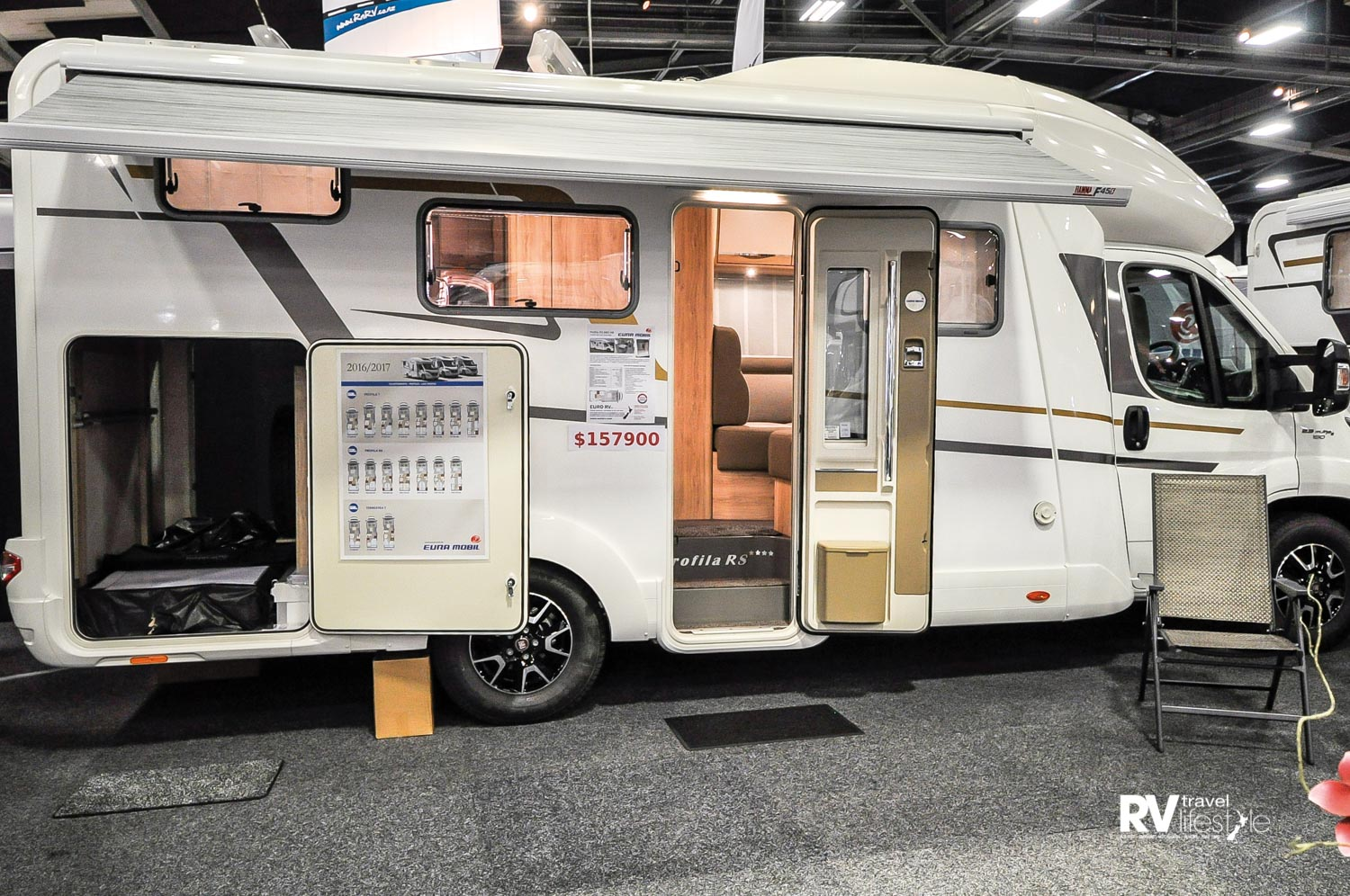 The Profila RS 660 HB display at the Classic Events Motorhome Show