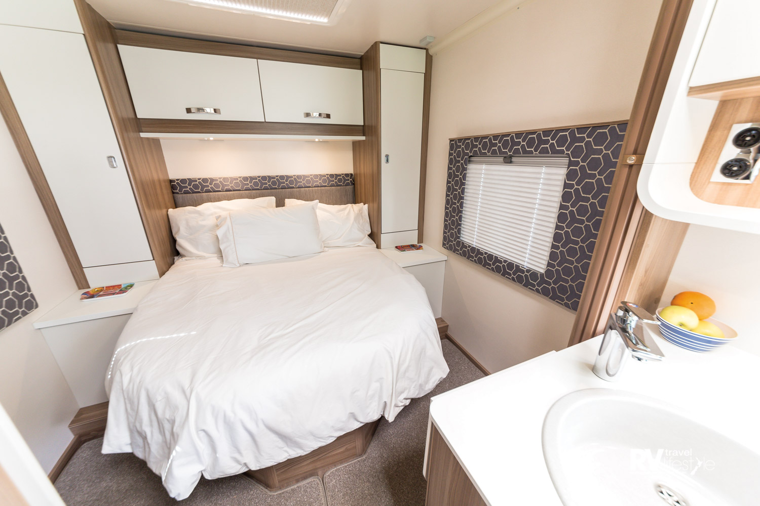 The rear bedroom with island bed is sure to be a hit with Kiwi buyers