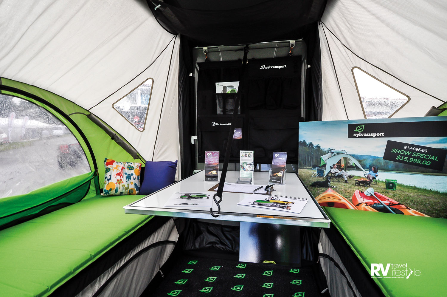 Inside, the SylvanSport Go is roomy with three alternative layouts