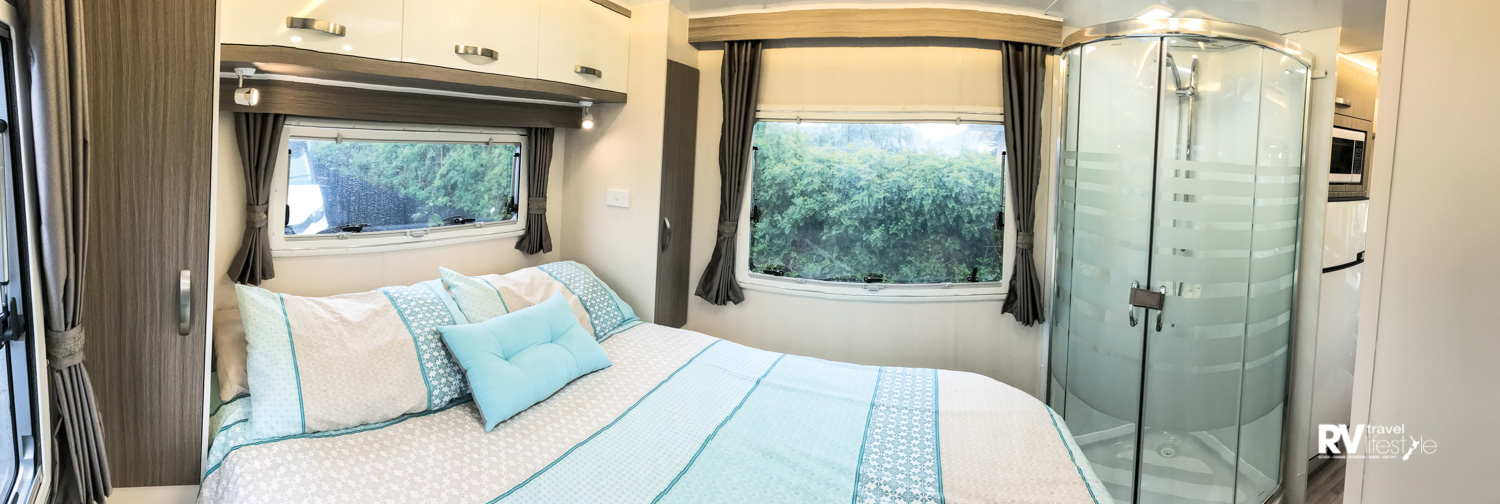 The Sunliner Monaco's separate bedroom with ensuite is a luxurious hideaway