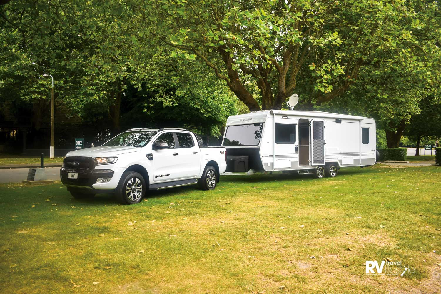 The dual axle Leisure Line caravan is proudly New Zealand made