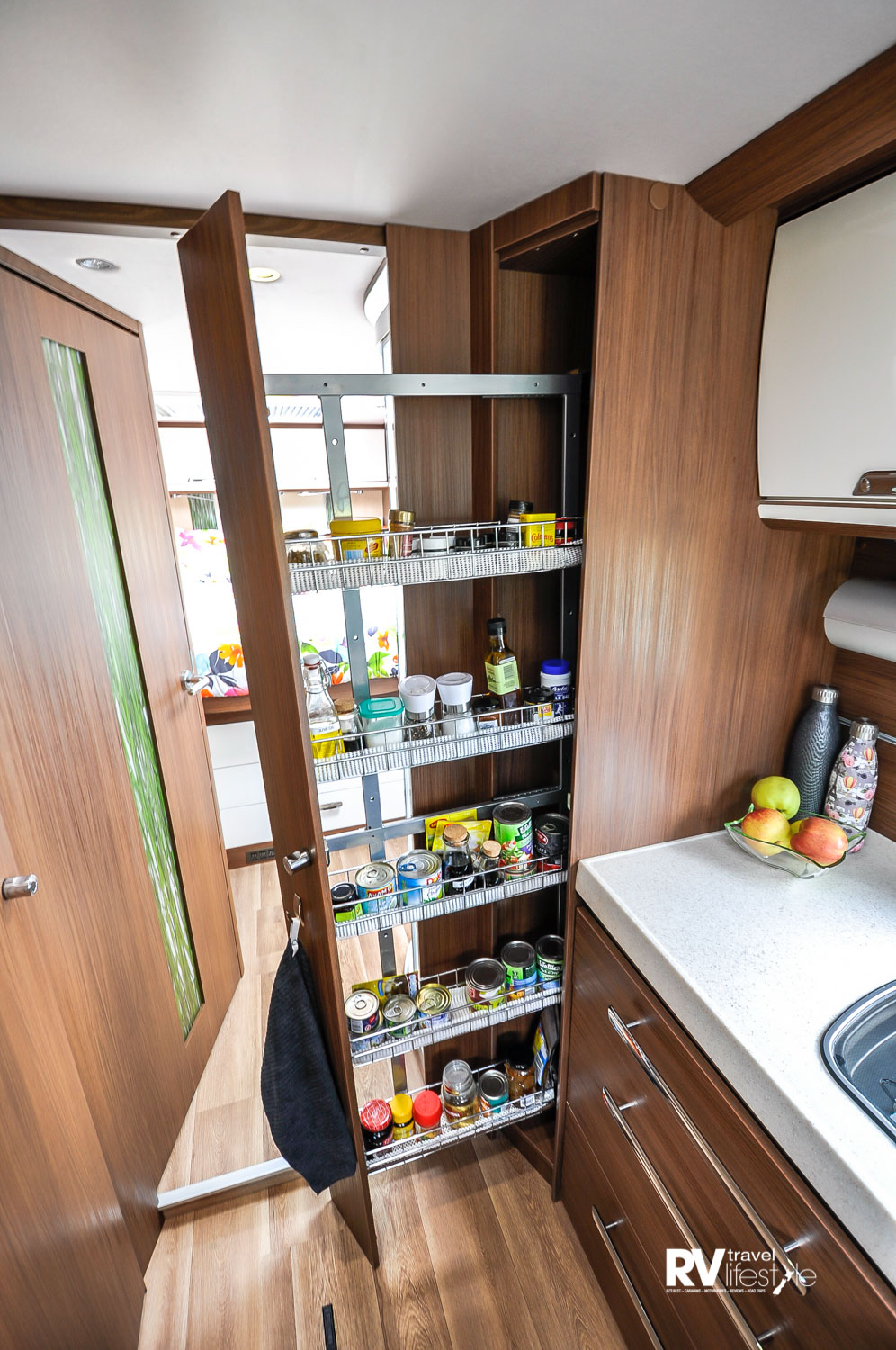 The pull-out pantry will be the envy of many