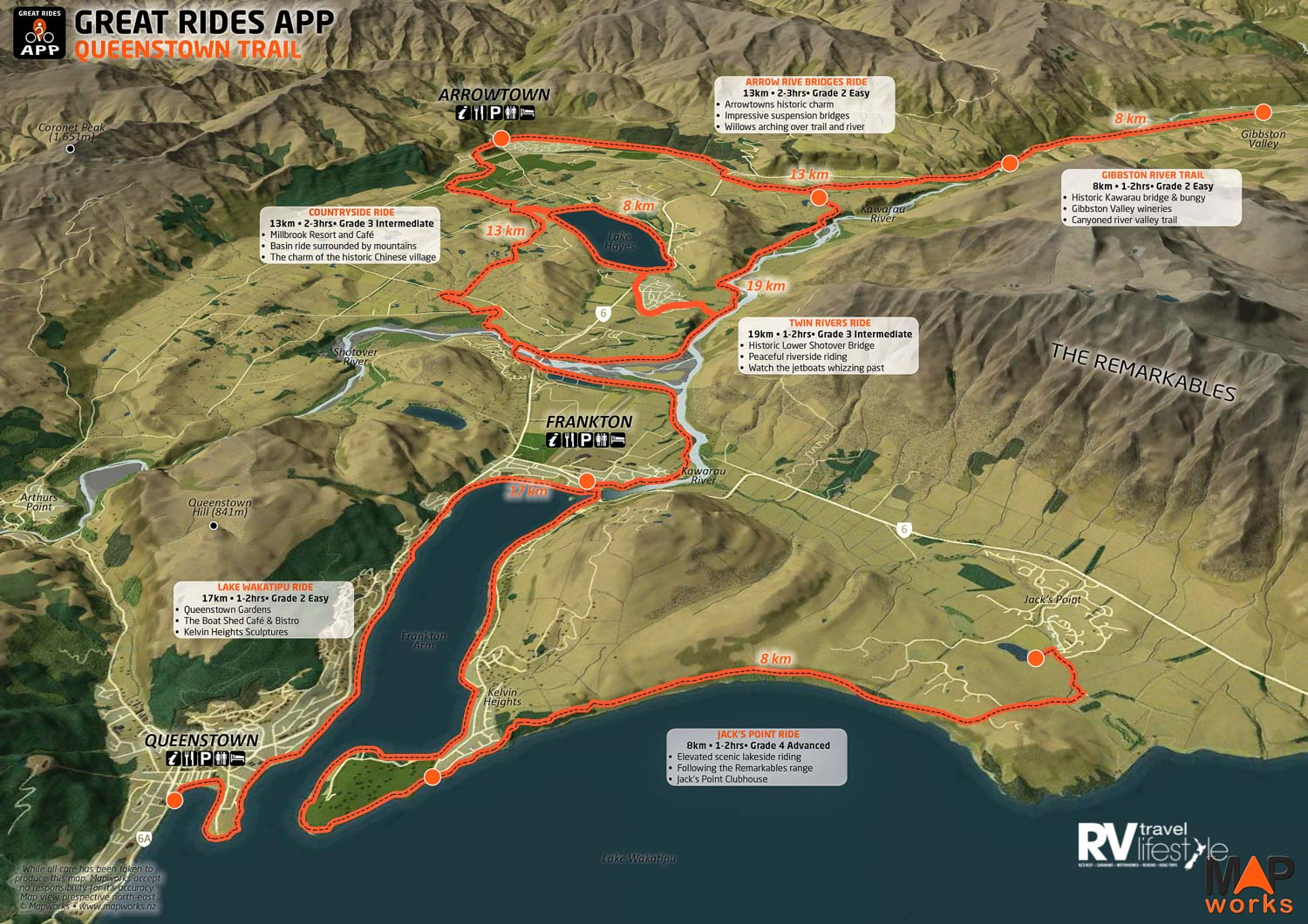 Mapping Queenstown Trails – landforms that shape a cartographer's memories