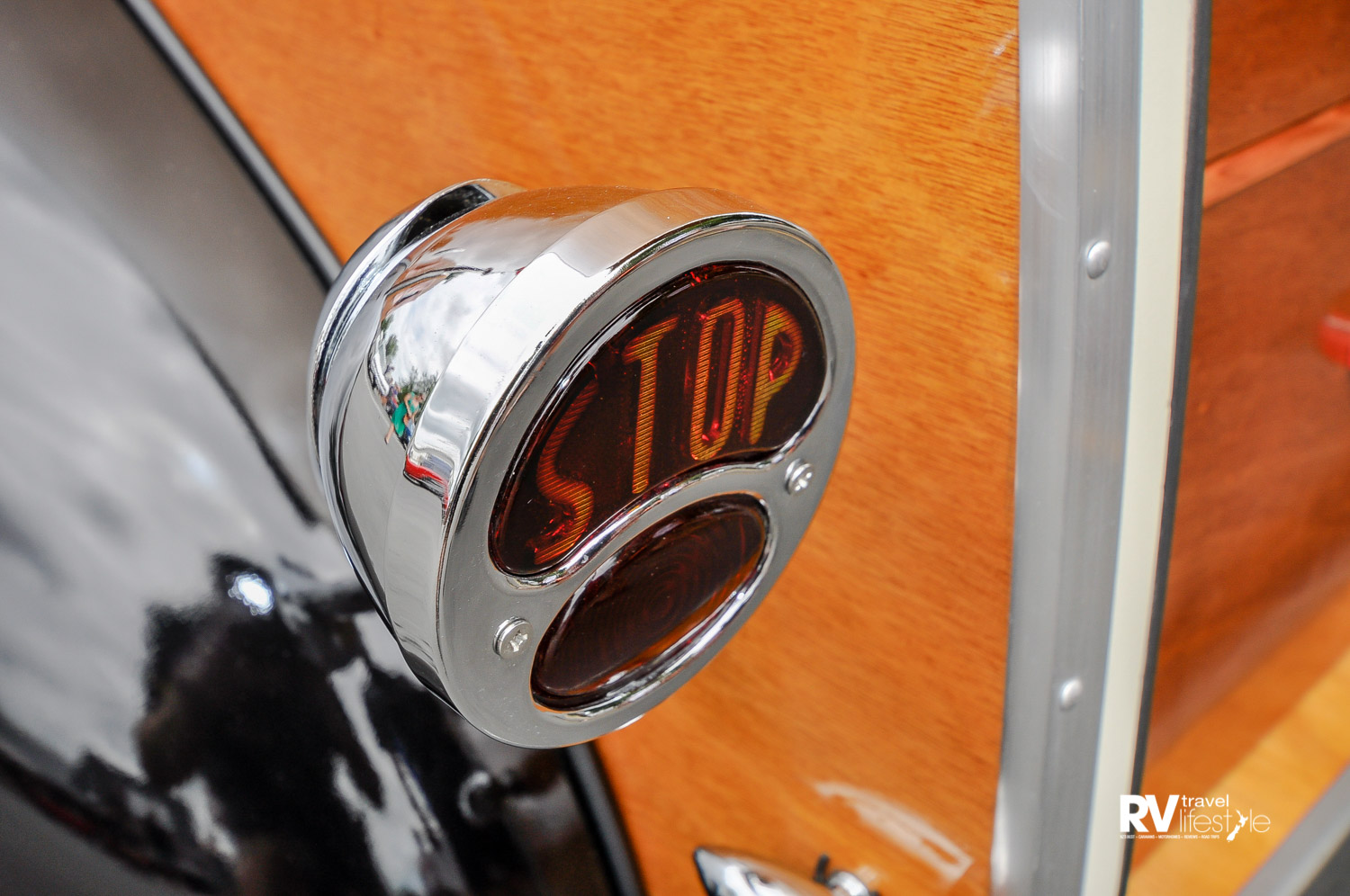 Very cute STOP light sourced and fitted – quirky touches that make these hand-built vehicles so special