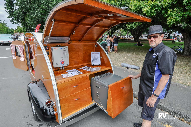 Master creator of both vehicles, Stevan Fisk from Steves Garage in Palmerston North