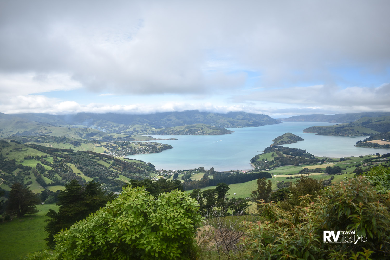 Looking over Akaroa Harbour