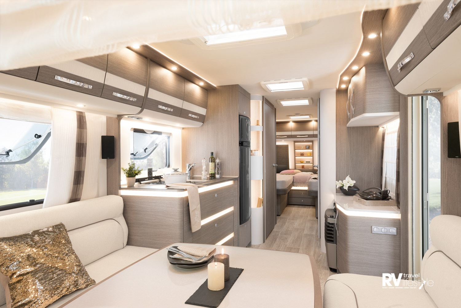 The Dethleffs 760DR looks more like a luxury apartment than a caravan