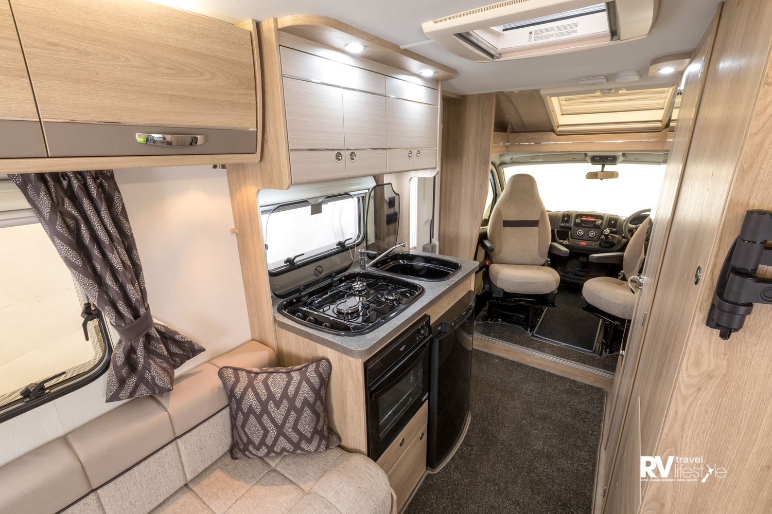 The interior of the Accordo comprises the expected Elddis finish and features