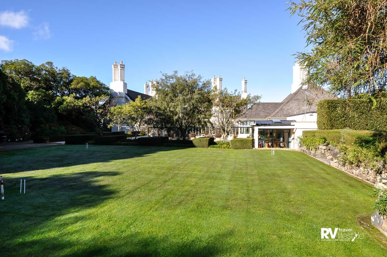 Croquet lawn at Wharekauhau