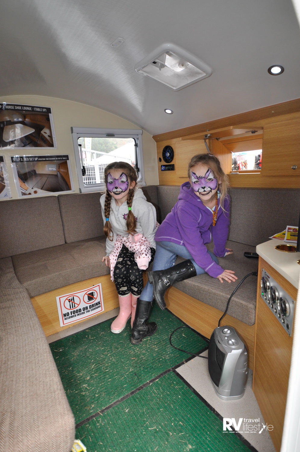 These little cats had plenty of fun playing in the teardrop camper at Fieldays