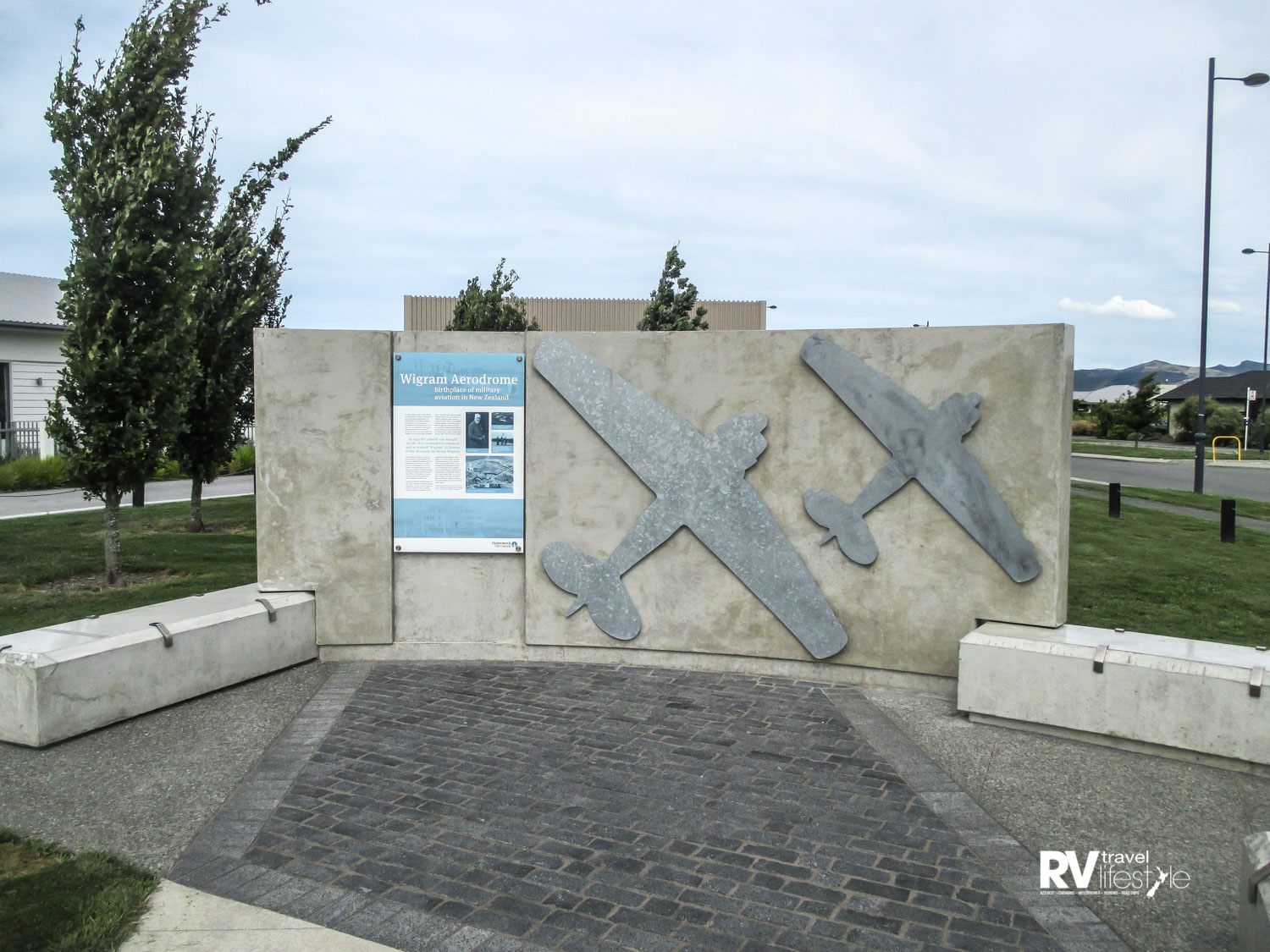 Memorial wall in the new Wigram housing estate