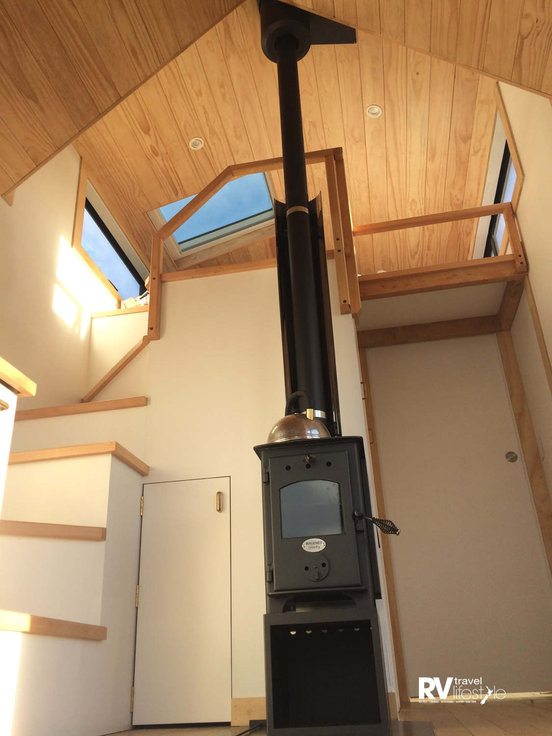 The Wagener Sparky is the perfect-sized fire for a tiny home. The photo (taken by Esther McDonald) shows one in the Briar Hales tiny home.