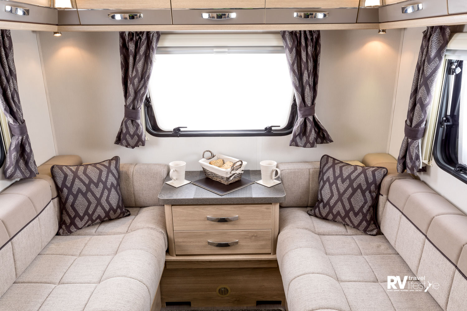 Elddis vehicles are beautifully upholstered, ensuring a comfortable lounge conversion from day to night mode