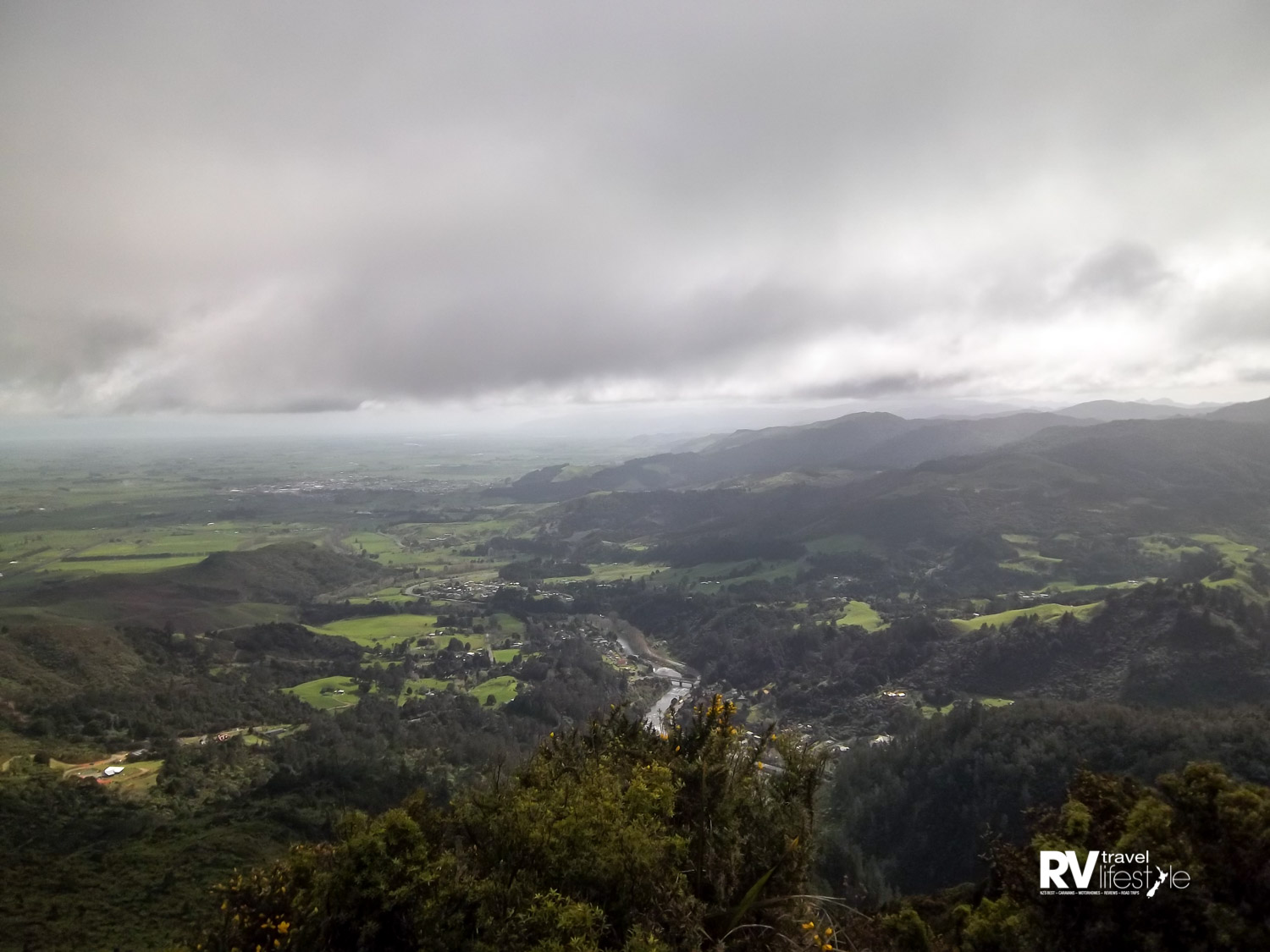 View from the top of Karangahake Mountain