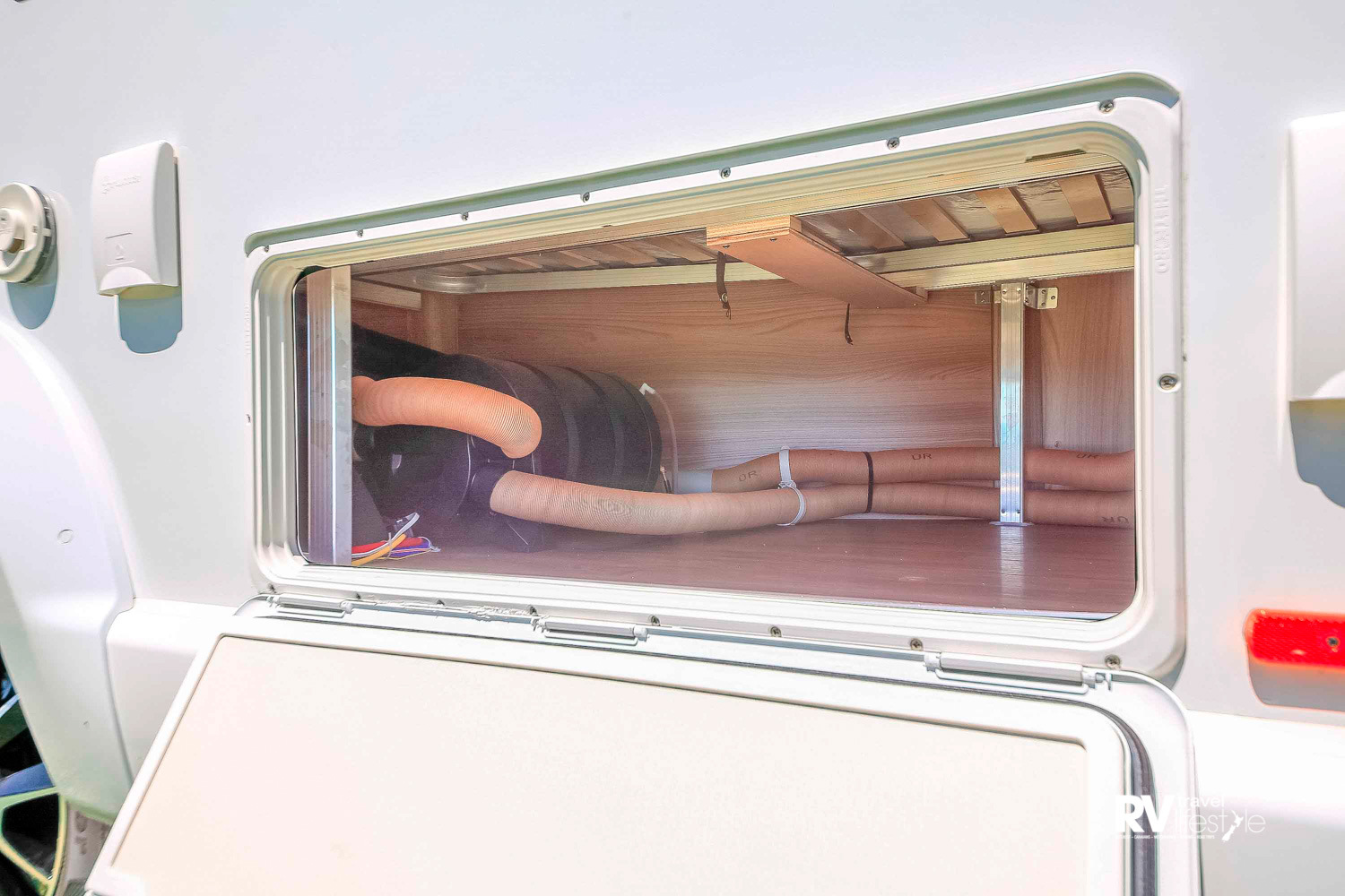 This nippy wee motorhome has good storage inside and out