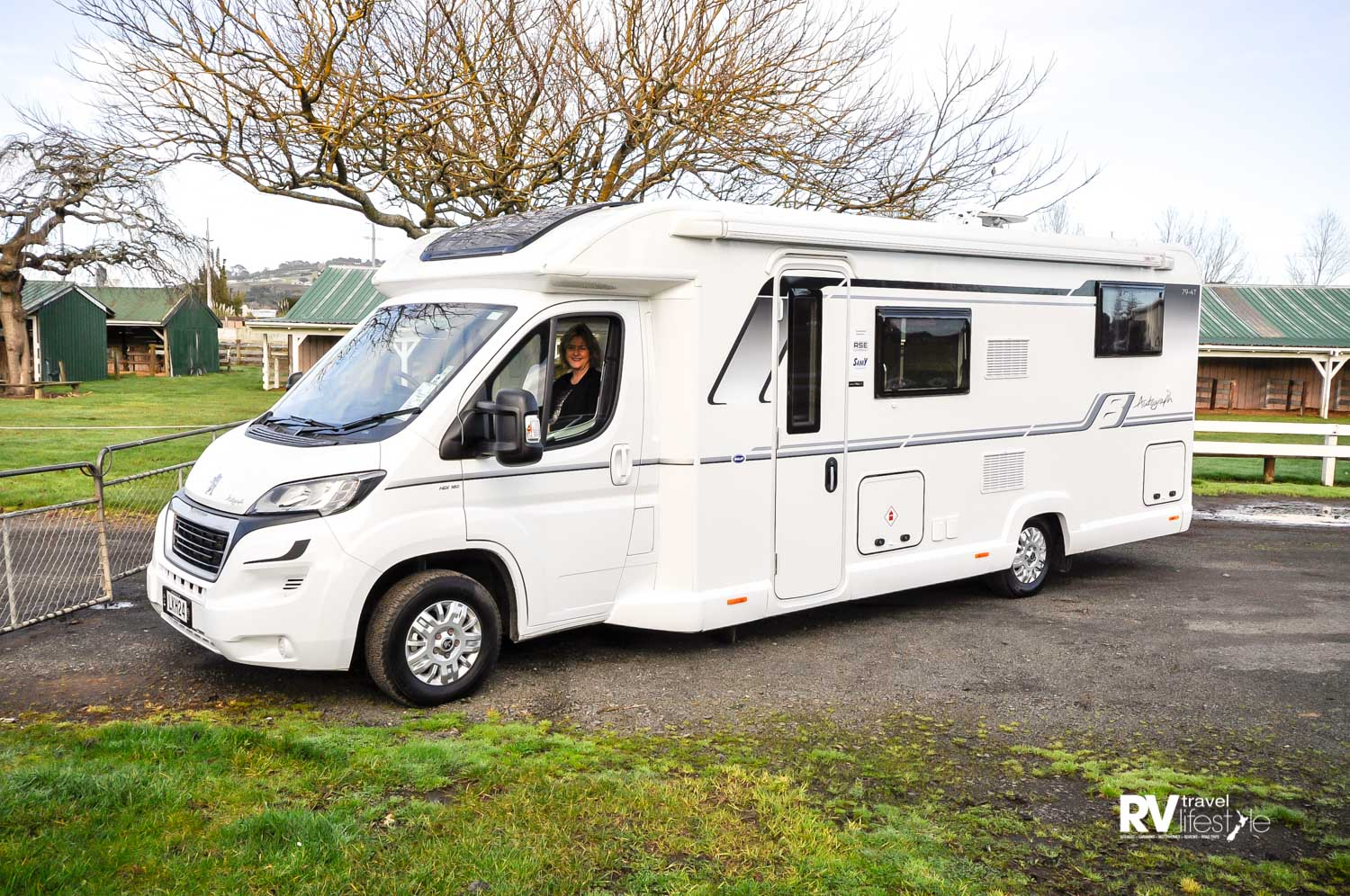 An impressive unit, this the 7988mm 79-T 4 berth with single beds