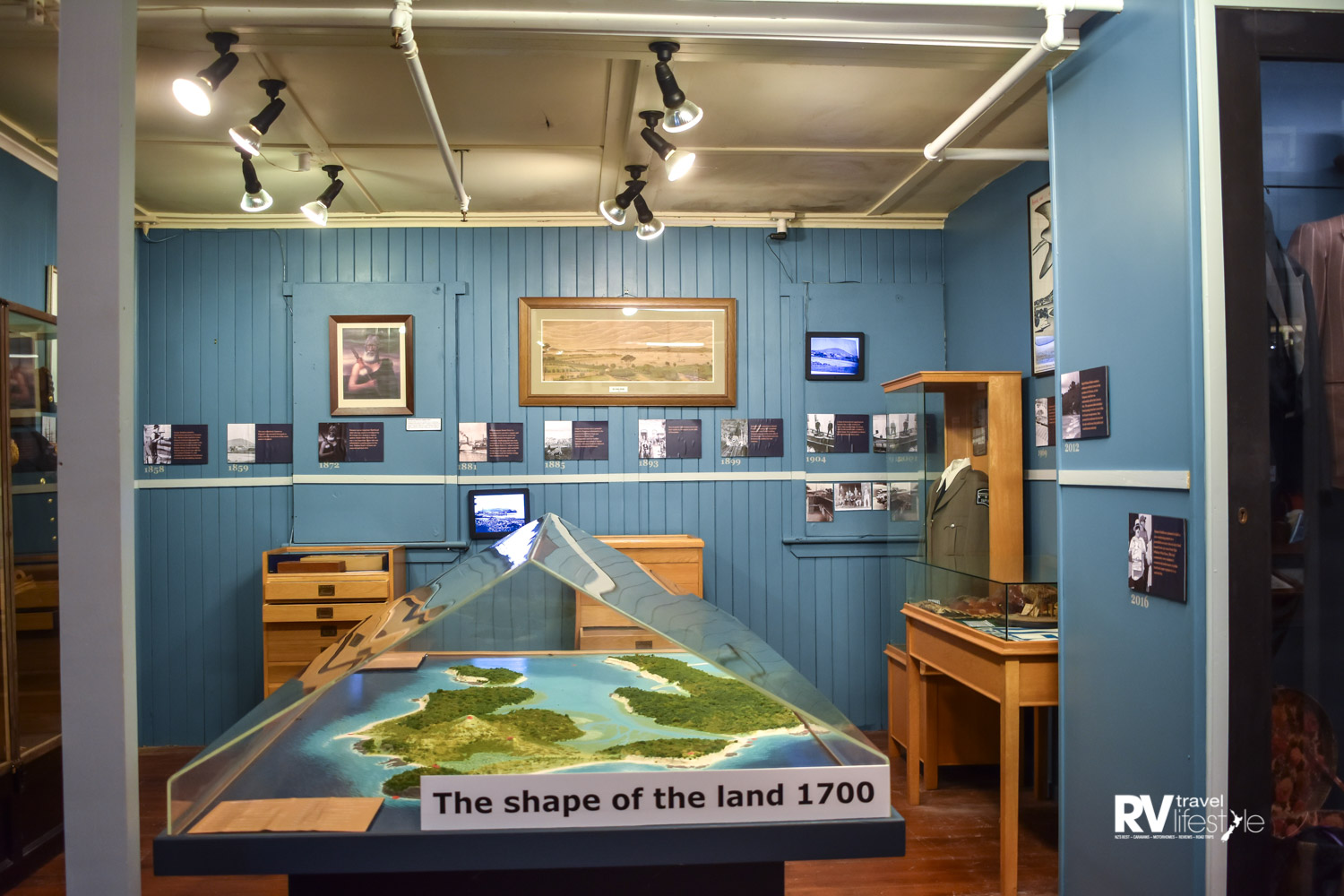 The first exhibit is a room detailing the timeline of Devonport history