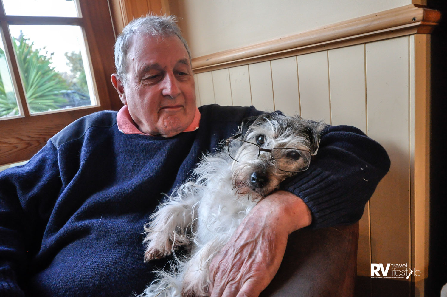 Another older friend we visited – Jacko with his dad John in Blenheim