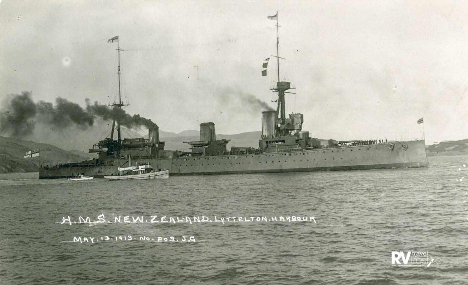 The 'luckiest ship in the world' – HMS New Zealand – credit: New Zealand Navy