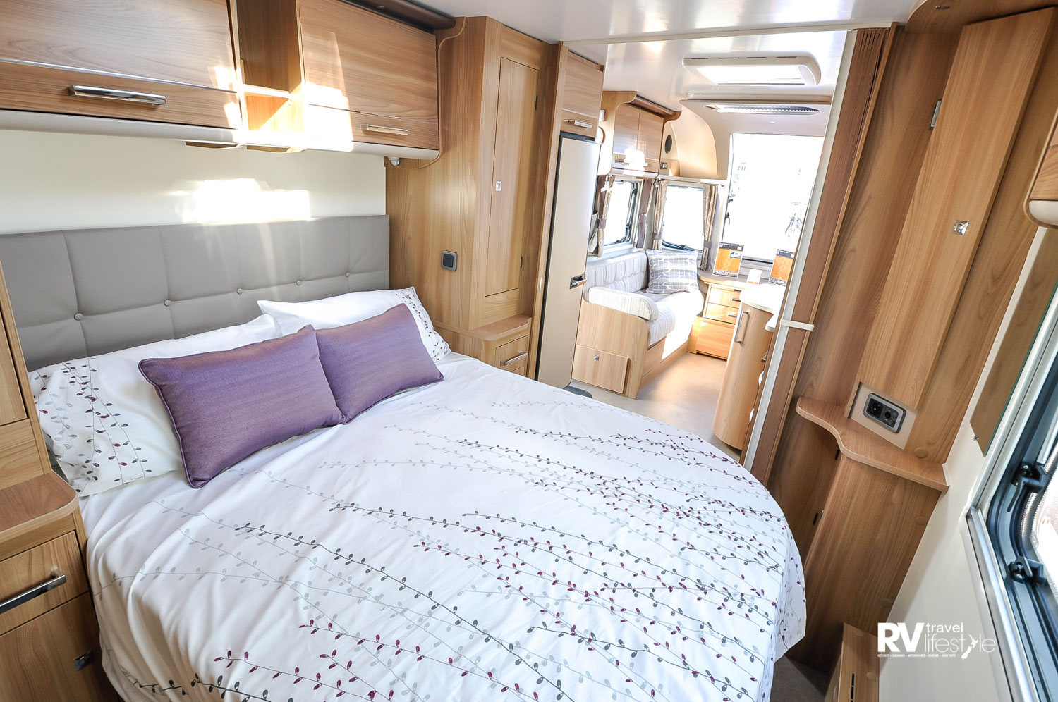 A 2016-model Bailey Unicorn – a large living space and packed with features. Kiwis took to these models well