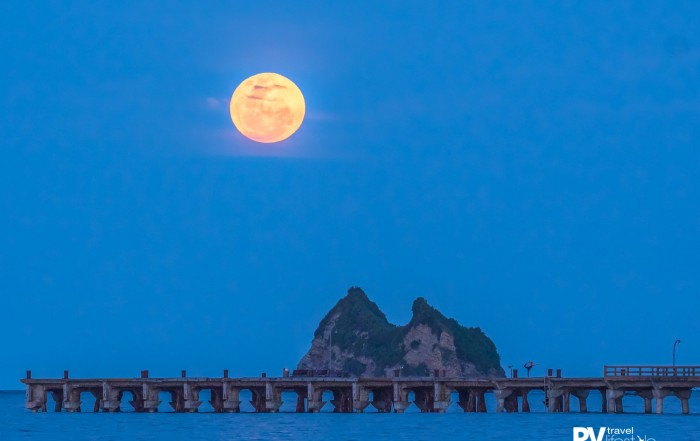 Tolaga Bay wharf under a full moon. Photo by Damon Meade