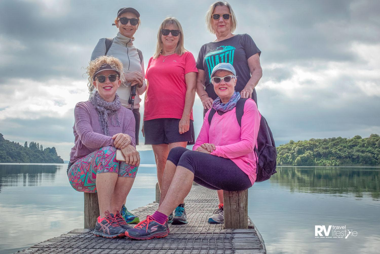 Di, Rebecca, Jane, Denise and Clare at Lake Tarawera