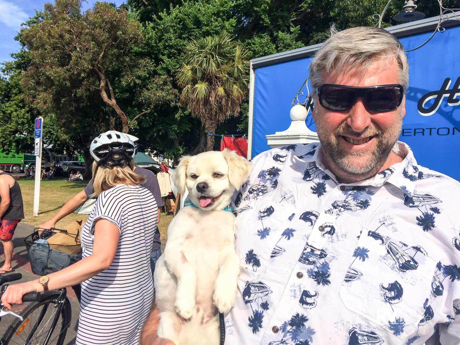 Bruce and Caspar Martinborough Xmas parade