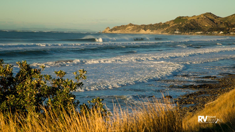 Wainui Beach is a popular surfing spot. Photo by Damon Meade