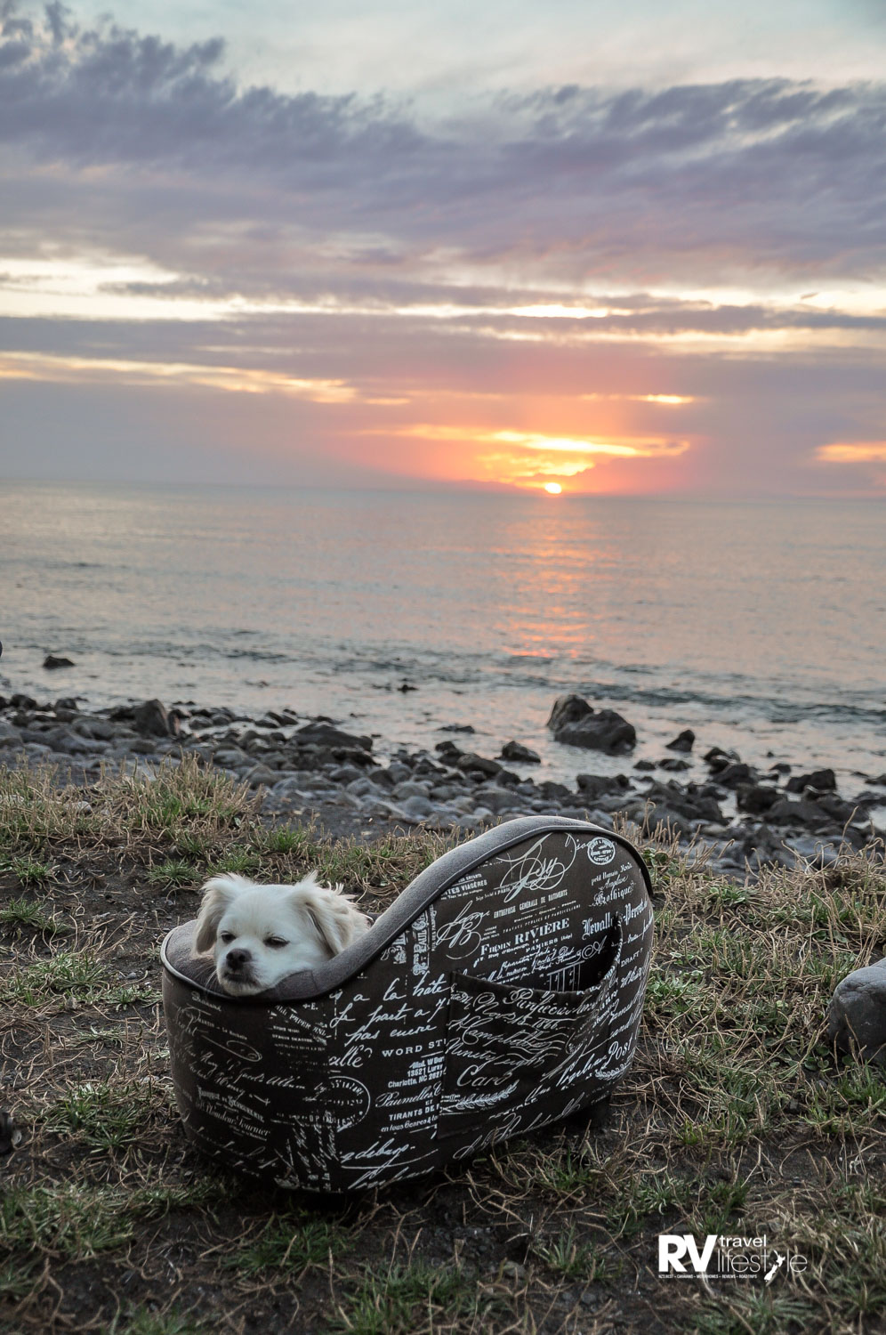 We went to the beach at Ngawi for a night, I was allowed to relax on my couch and watch the sun with Mama