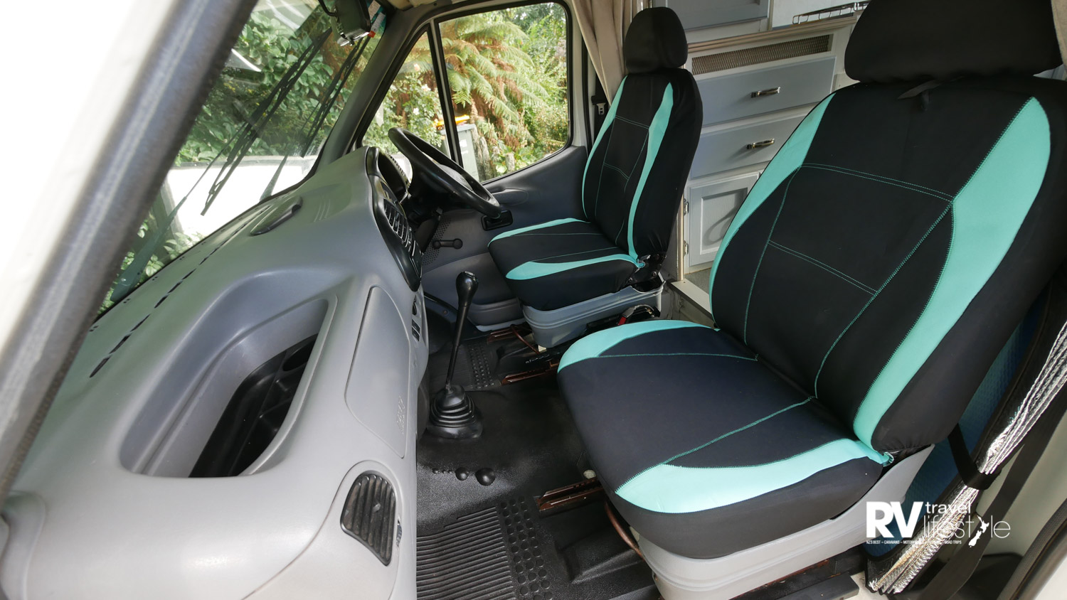 No new seats for Rosie - Yet - but these seat covers from Supercheap Auto certainly snazzed her up to match the back area