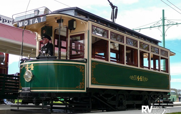 One of MOTAT's operational heritage trams which transport visitors between sites