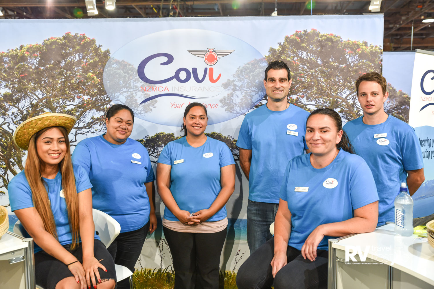 The Covi Insurance team had visitors playing games on their stand to lots of laughter
