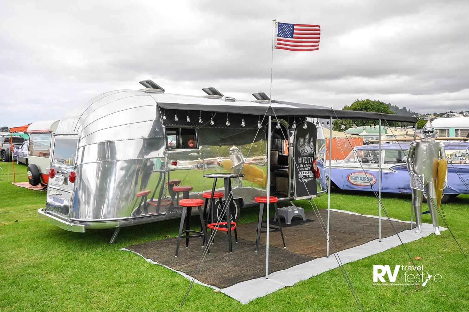 The Airstream on show at the 2019 Repco Beach Hop