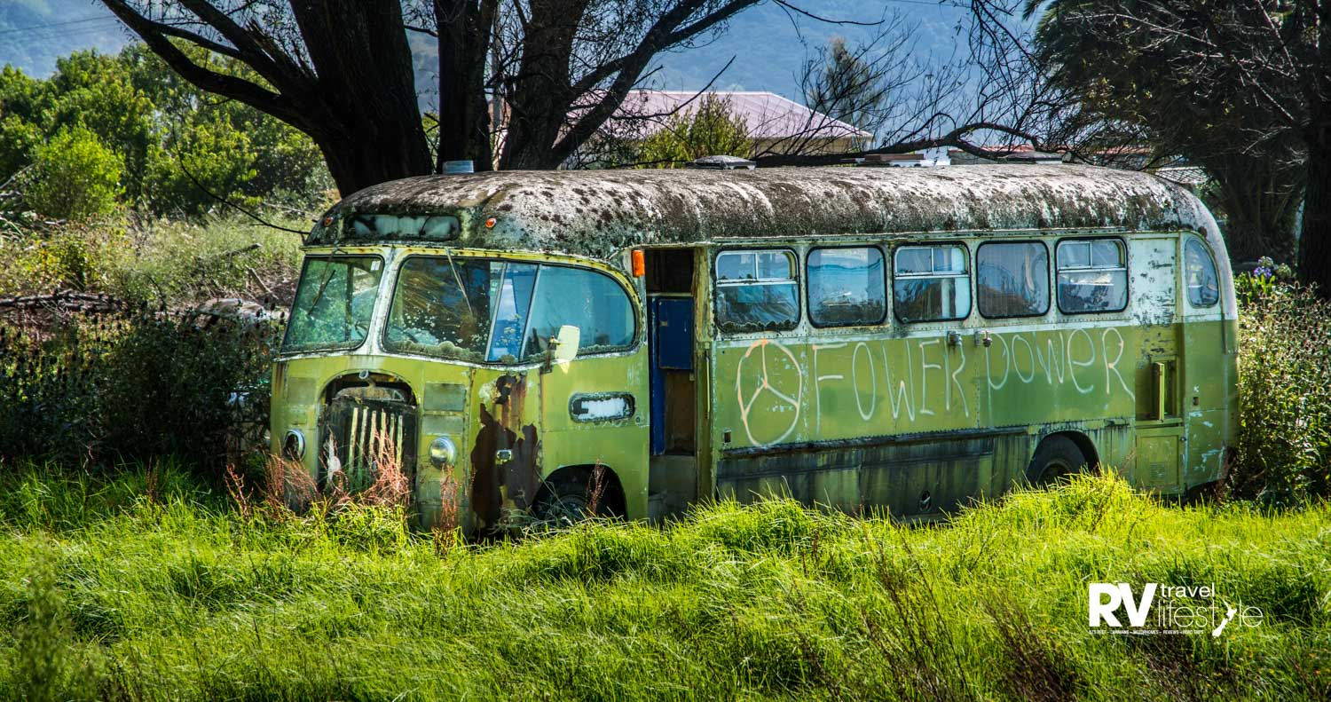 """What a cool old bus. """"Fower Power"""" must be the new """"Flower Power"""""""