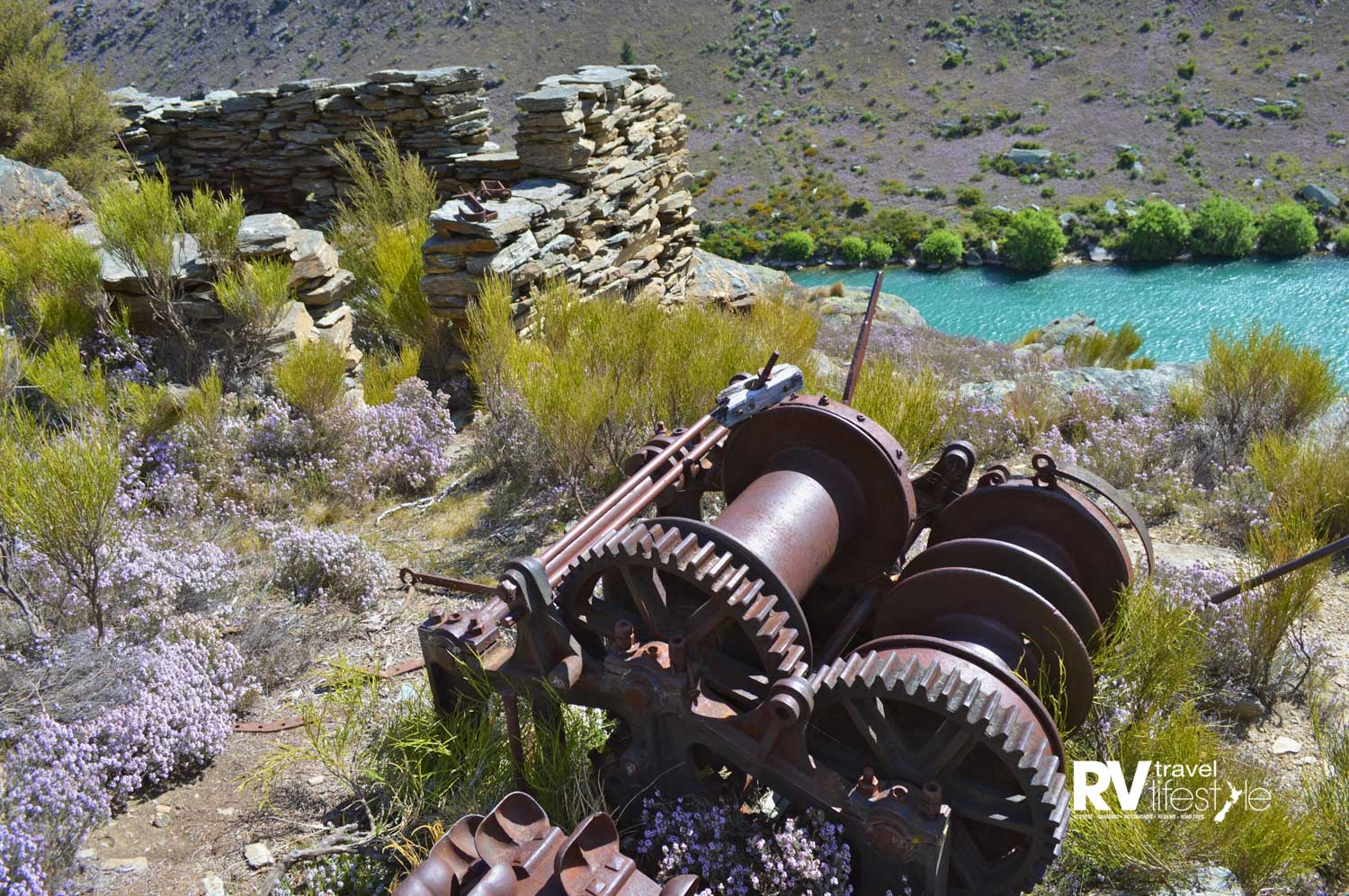 Historic relics lie scattered through the gorge (Clutha River Cruises)