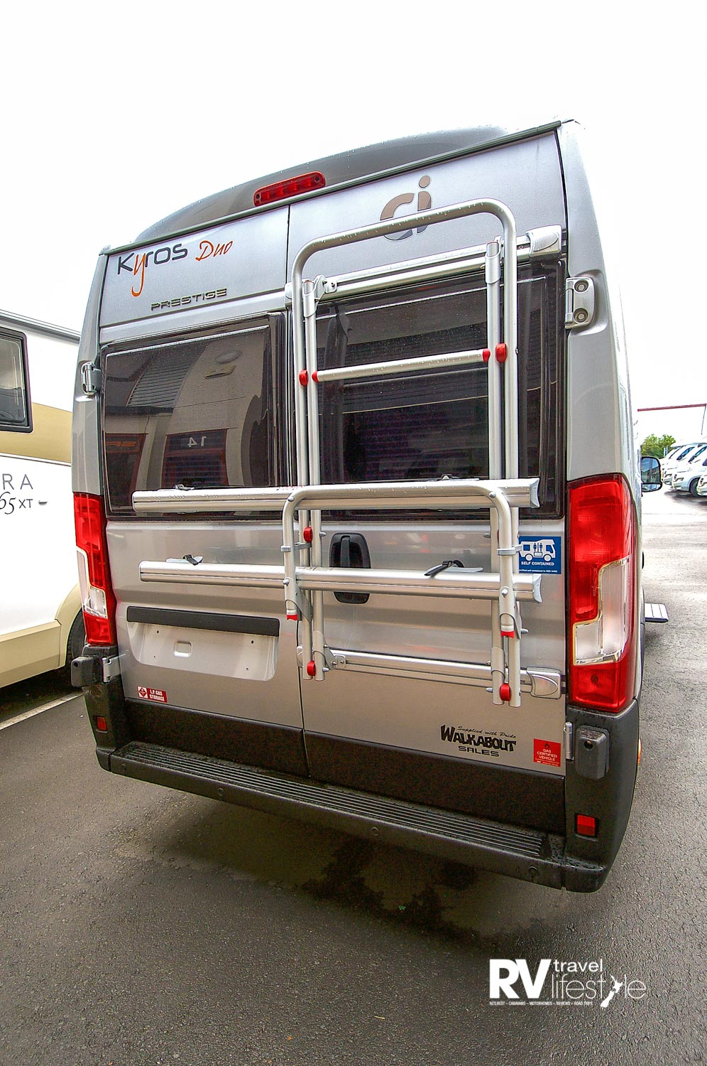 Two rear opening doors, bike rack fitted, and only 6360mm long, 2050mm wide, and 2810mm high – you can drive this like a car