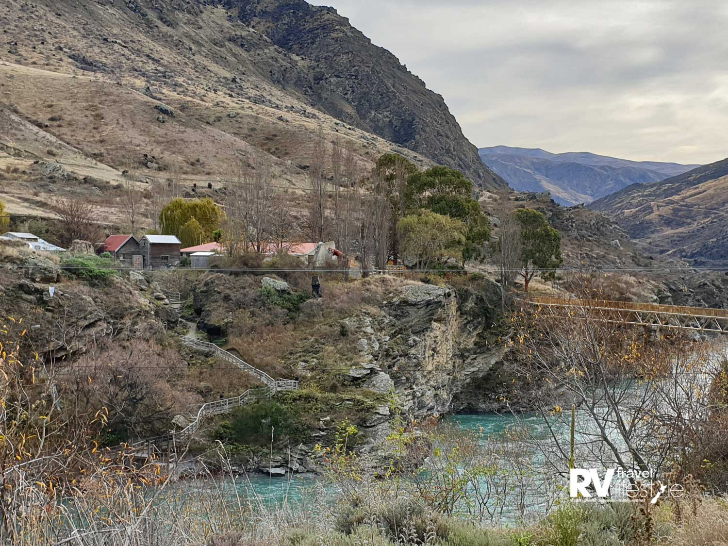 Goldfields, on the gorge drive along the Kawerau river heading back to Queenstown - this is a popular tourist destination, history, gold panning, walks to explore old miners huts and good food I hear. Jetboats come and go from here as well