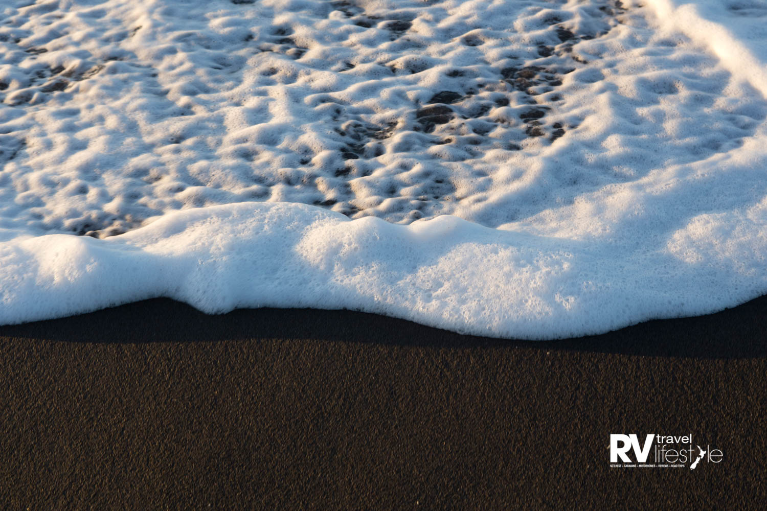 Black-sand beaches are derived from volcanic rock